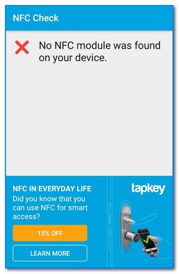 Модуль NFC не был найден на твоем смартфоне