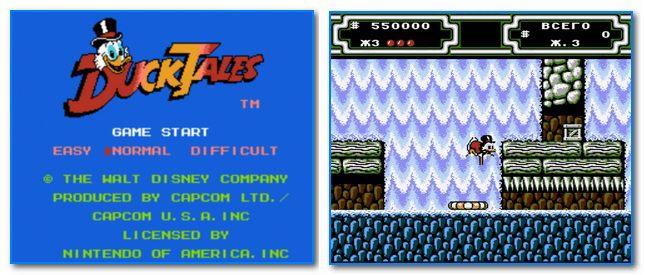Скрин из игры Duck Tales