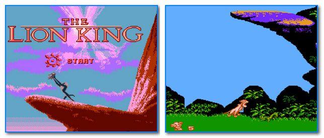 Скрин из игры король лев