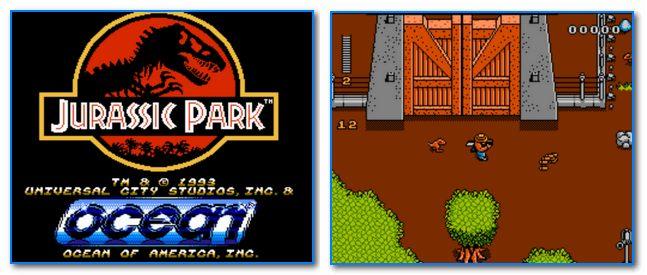Скрины из игры Jurassic Park