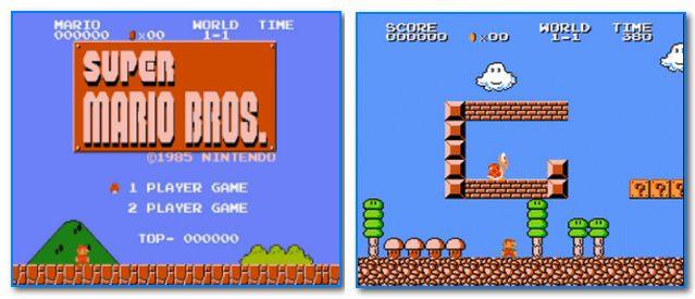 Скрины из игры Марио