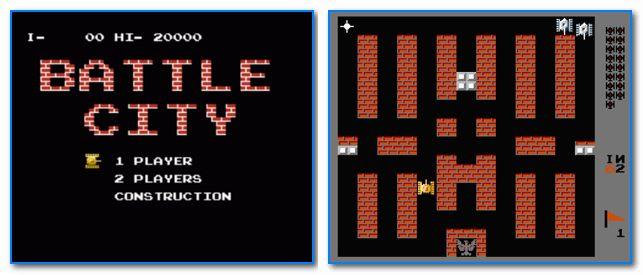 Скрины из игры Танчики (Battle City)