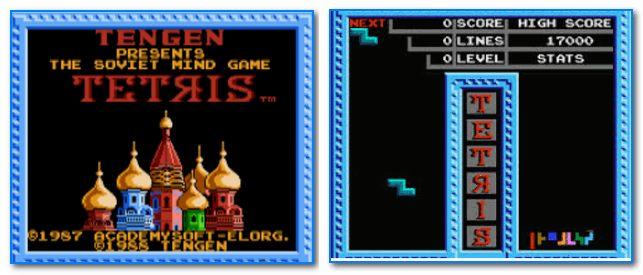 Скрины из игры тетрис