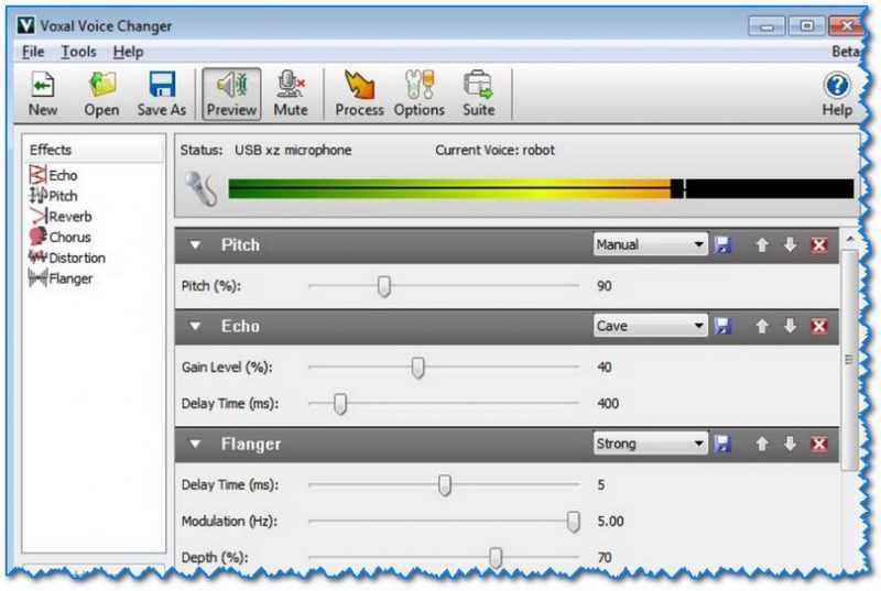 Voxal Voice Changer - скриншот главного окна