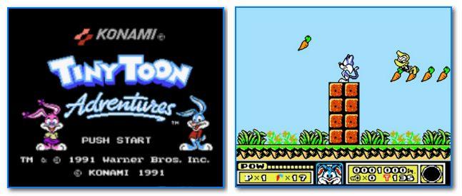 скрины из игры Tiny Toon Adventures