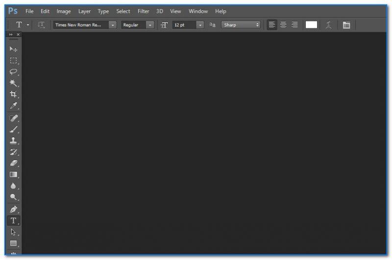 Главное окно программы Adobe Photoshop