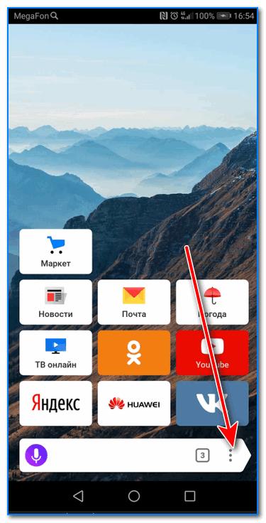 Переходим в меню браузера (Яндекс)