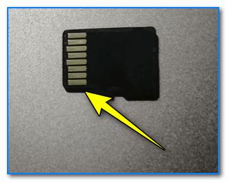 microSD контакты