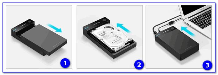 BOX для подключения диска 3,5 дюйма к USB