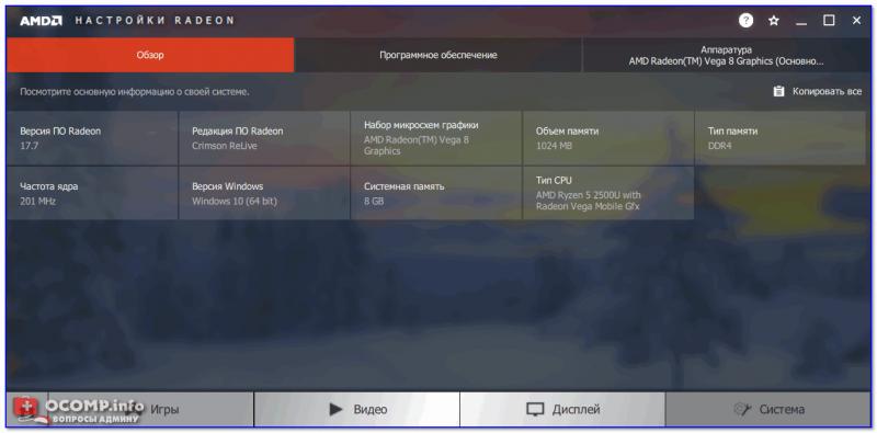 AMD Radeon — система