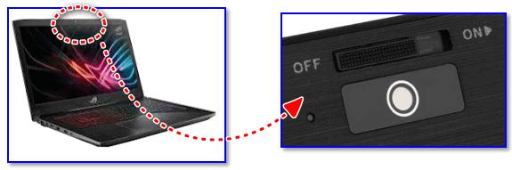 Физический выключатель на веб-камере ноутбука