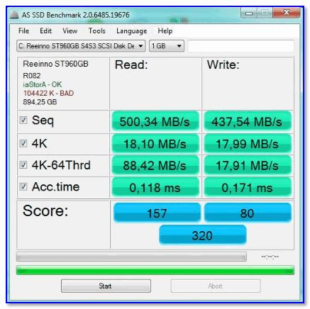 Тесты скорости Reeinno Sirius T-960