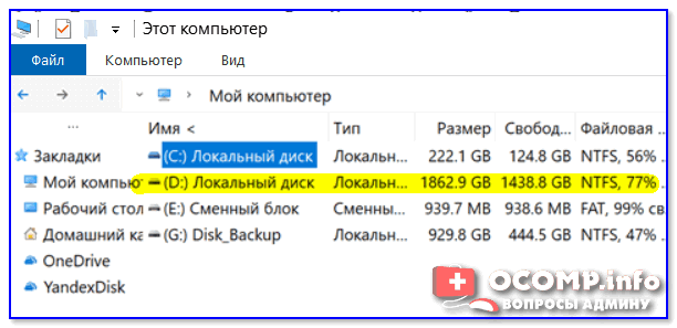 Пример, диск 1862,9 ГБ