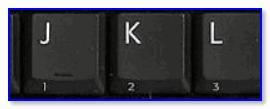 Цифра на боковой грани клавиши