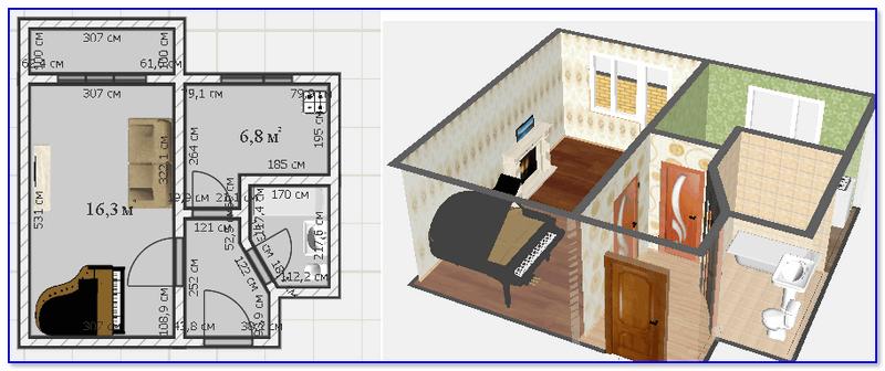 Дизайн типовой 1-комнатной хрущевки