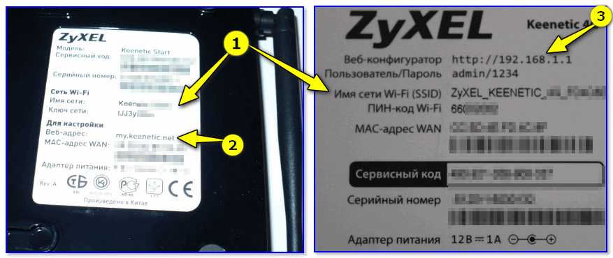 Наклейки на корпусе моделей ZyXEL