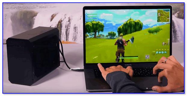 Внешняя видеокарта (BOX) подключена к ультрабуку
