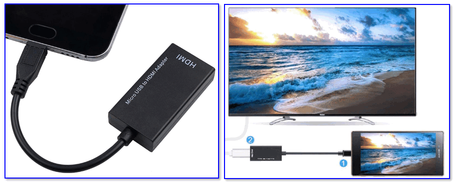 Адаптер Micro USB на HDMI