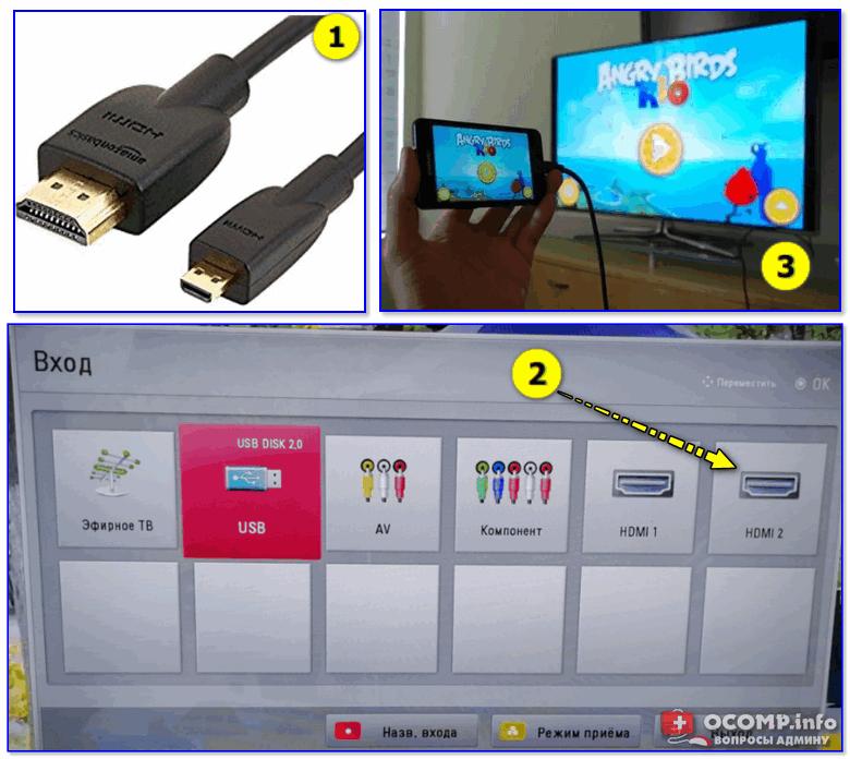 Как подключить телефон к телевизору с помощью HDMI