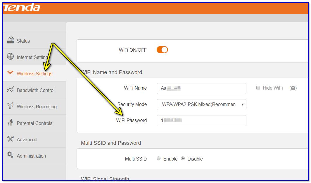 Роутер Tenda — смотрим пароль от Wi-Fi