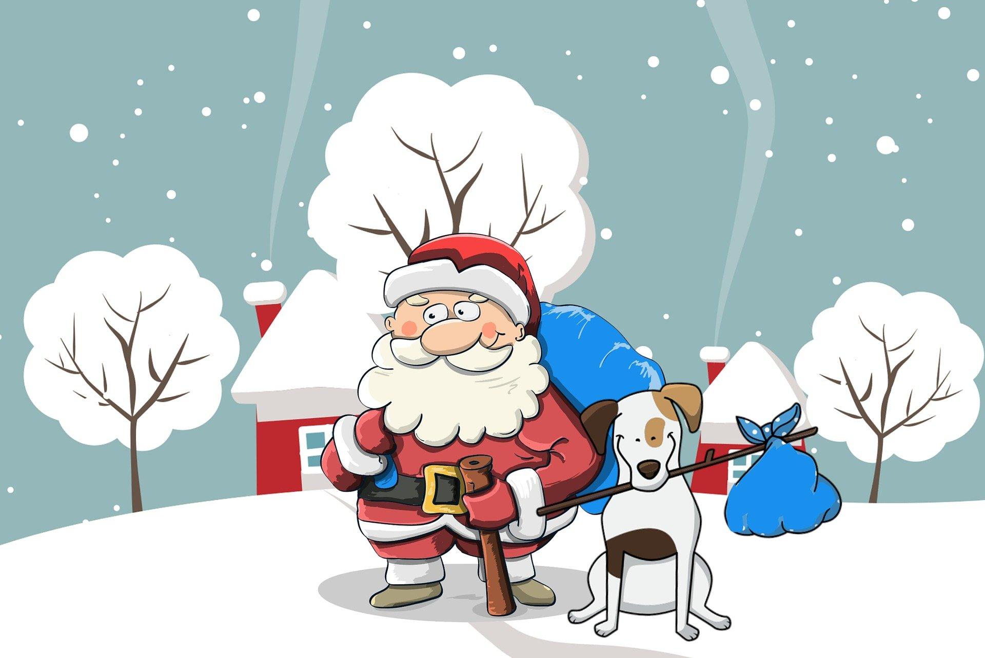 Дед Мороз поздравляет с Новым Годом
