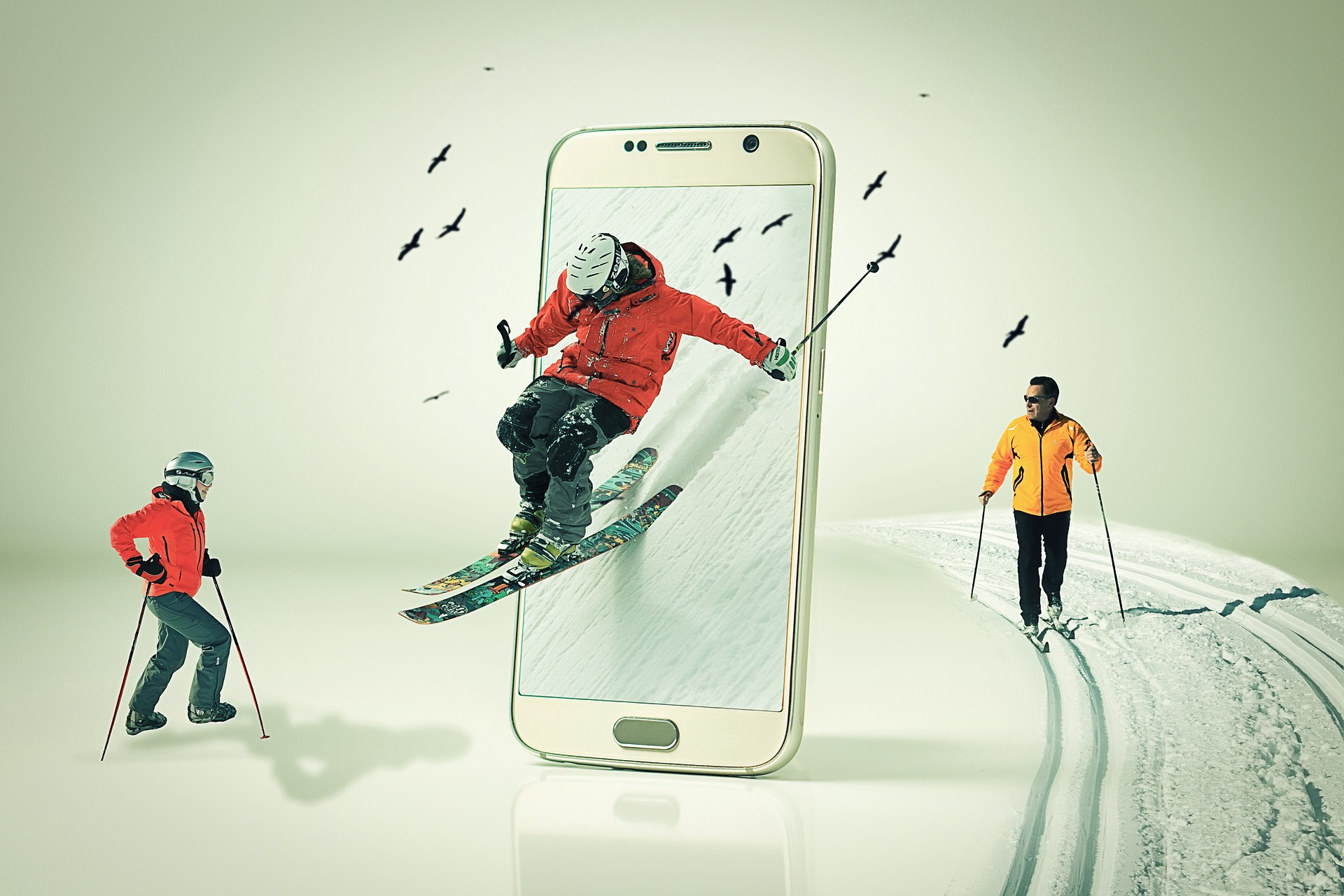 Зимние виды спорта / телефон