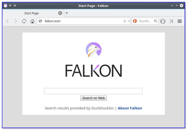Falkon — стартовая страничка