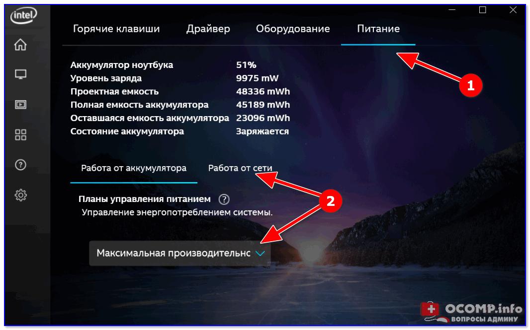 астройки Intel HD — высокая производительность