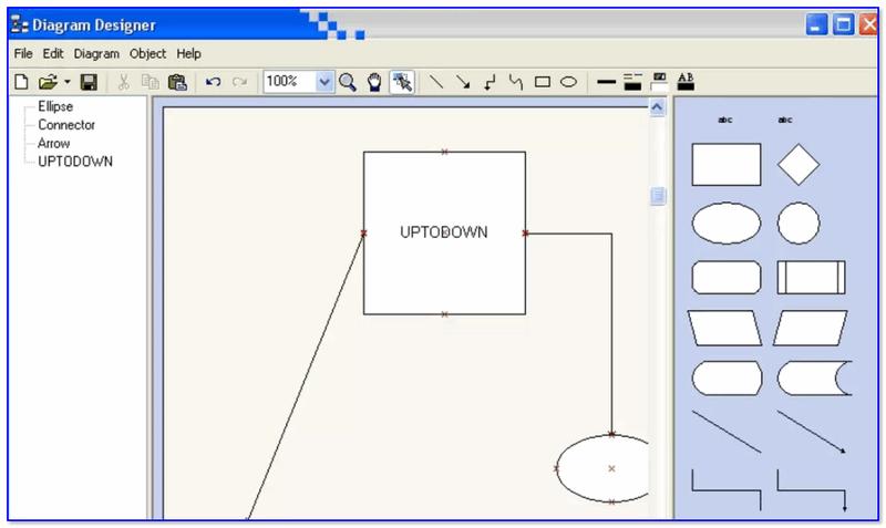 Diagram Designer — главное окно программы