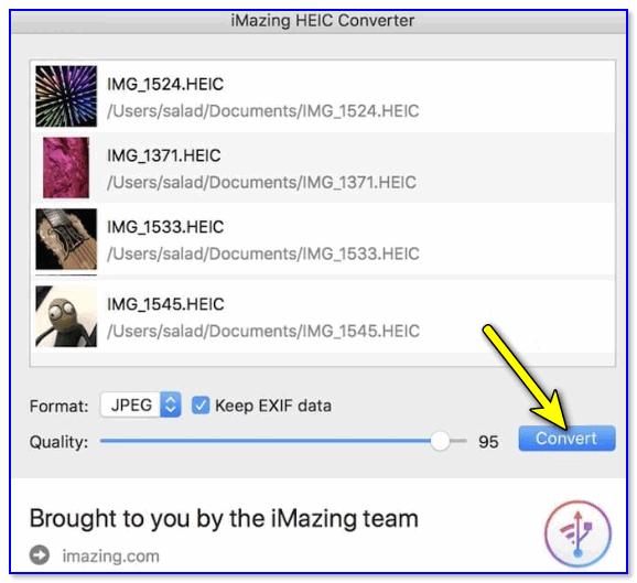 iMazing HEIC Converter — главное окно программы
