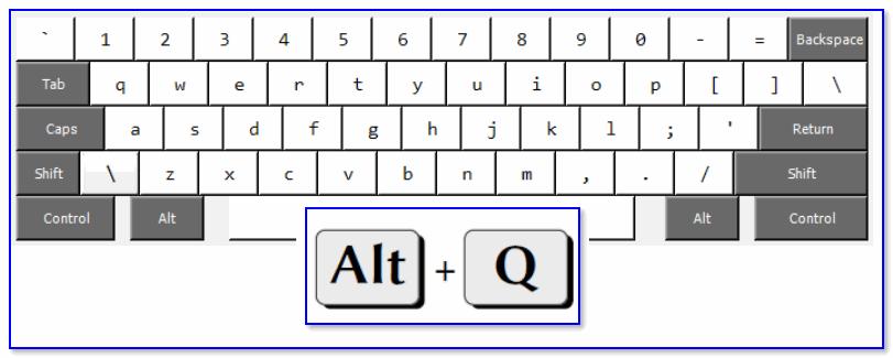 ALT+Q / клавиатура