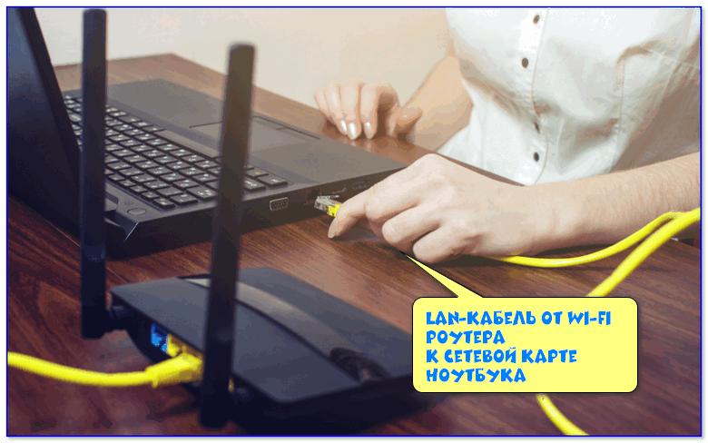 LAN-кабель от Wi-Fi роутера