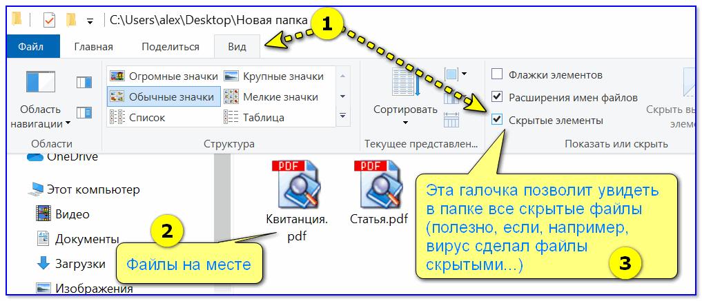 Просмотр папки с документом PDF - Windows 10