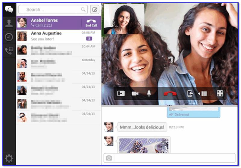 Viber — пример видеозвонка по сети Интернет