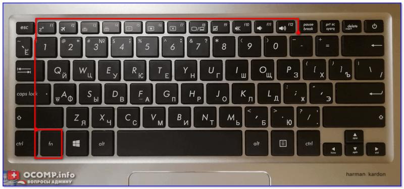 Фото клавиатуры ноутбука Asus (Zenbook 310)