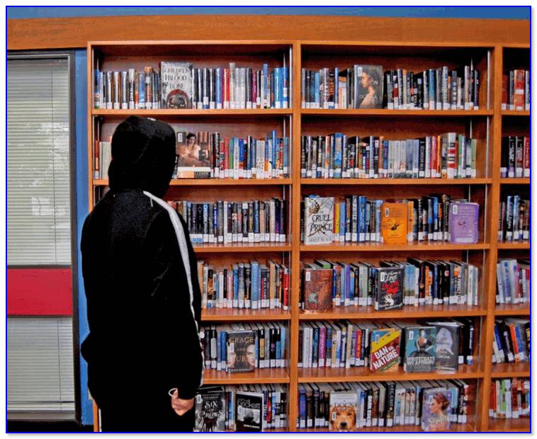 Полка с книгами...