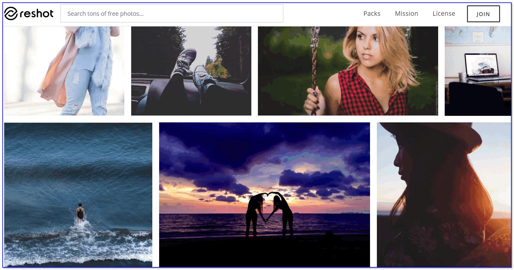 Reshot — обмен снимками
