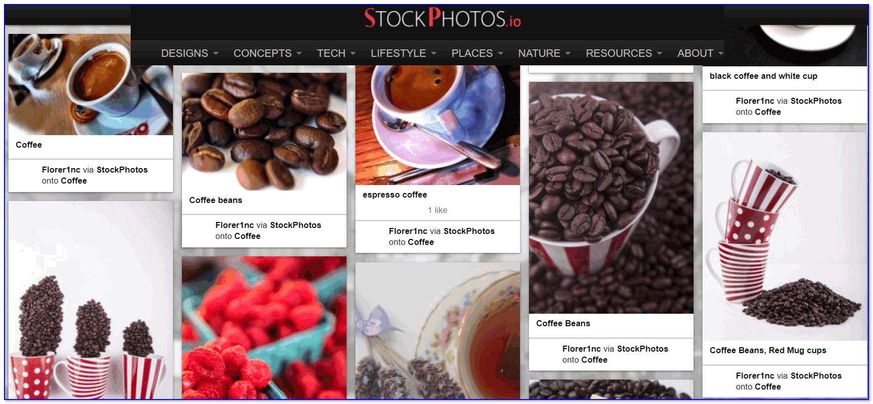 StockPhotos.io — скрин главной странички сайта