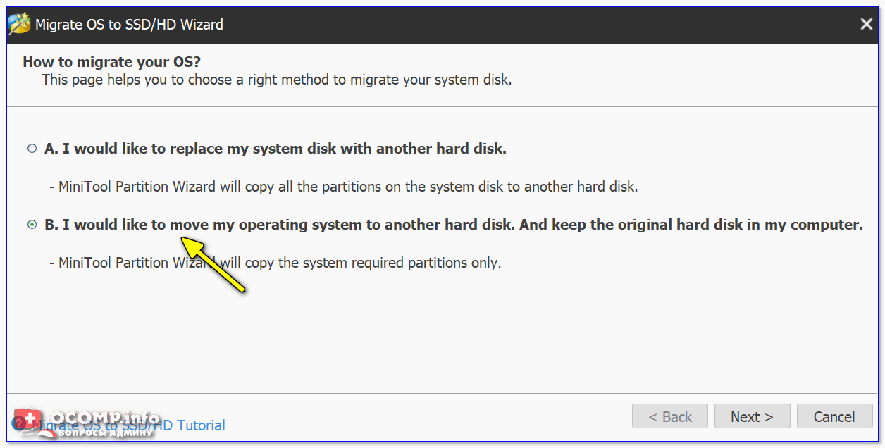 Перенести системный раздел с Windows