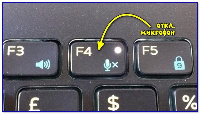 Откл. микрофон / функциональная клавиша ноутбука
