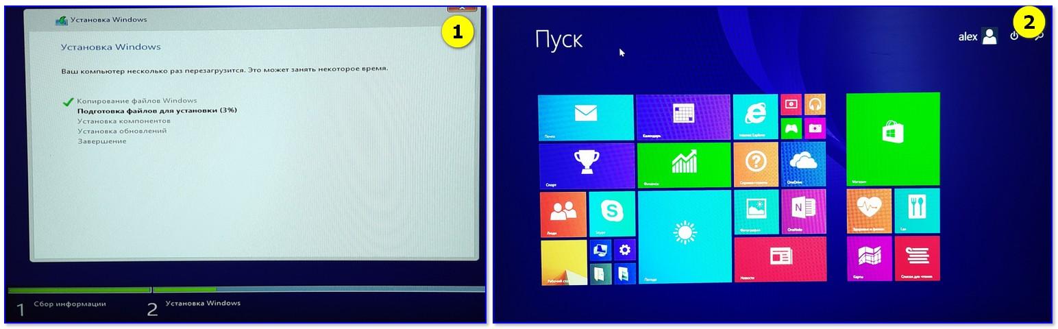 Тест установки Windows 8