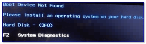 Boot Device Not Found — загрузочное устройство не найдено