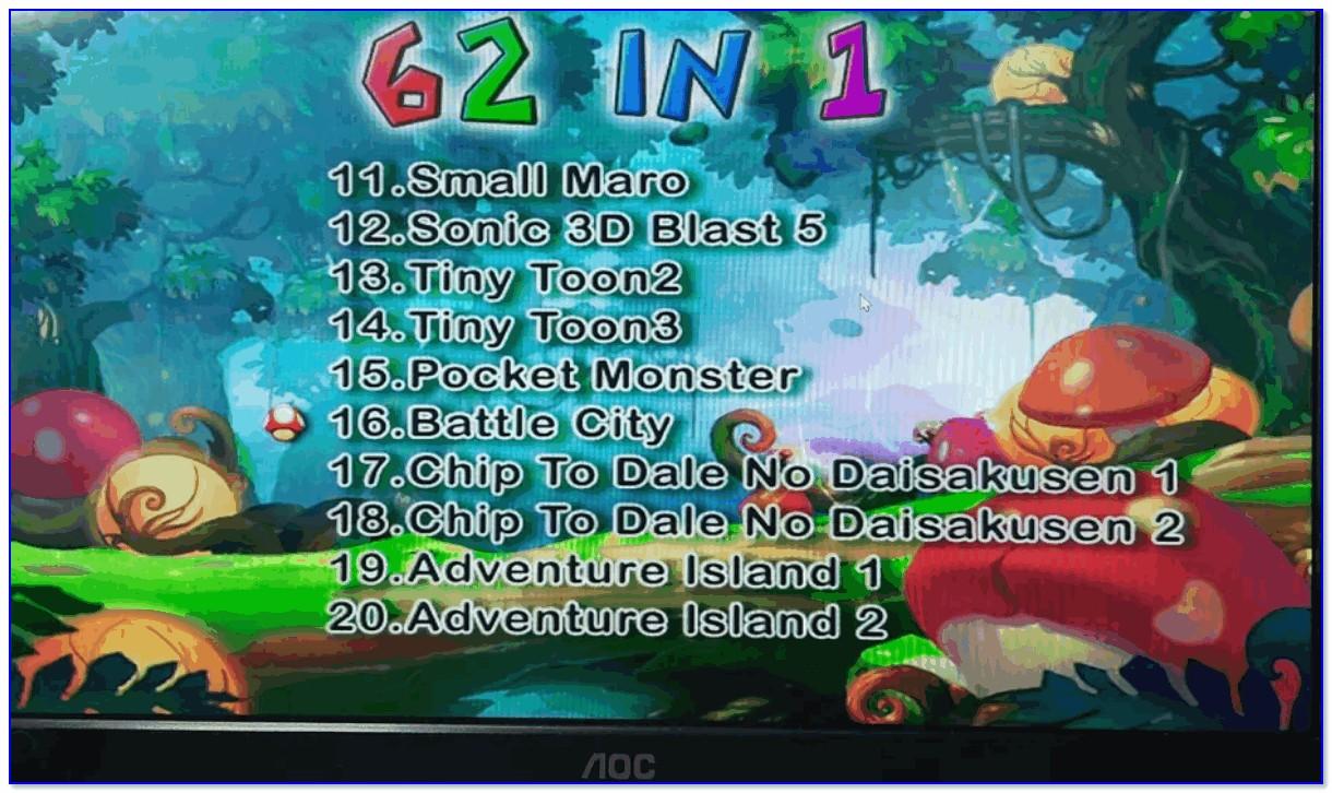 Фото 1 — список игр одного из разделов (Action)