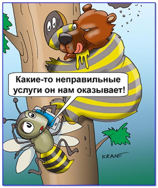 """""""Ало! Мастер нам неправильные услуги оказывает..."""" (Карикатура Евгения Крана)"""