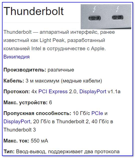 Thunderbolt - краткая информация