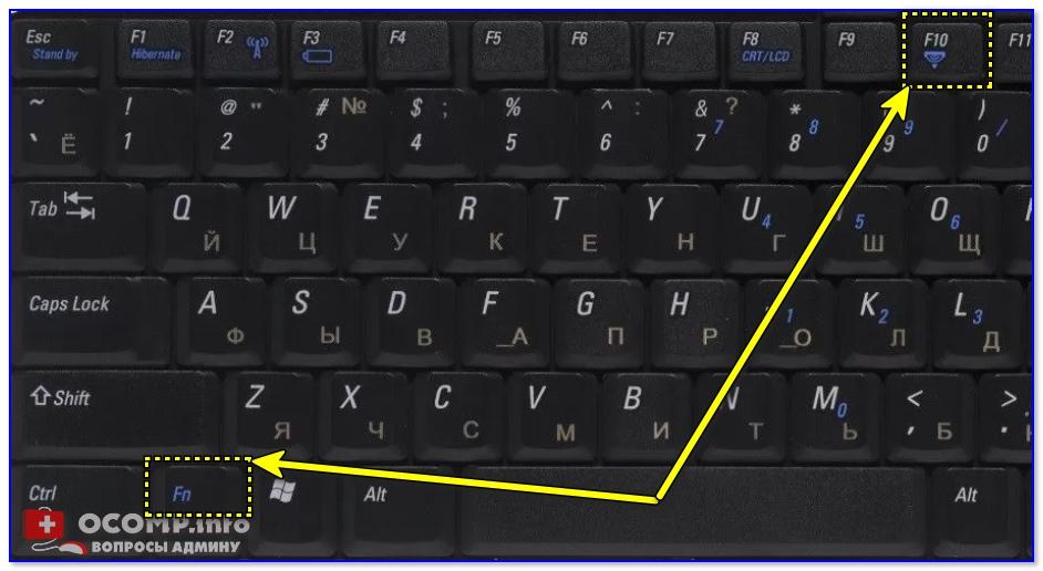 Dell Inspiron 1300 — фото клавиатуры