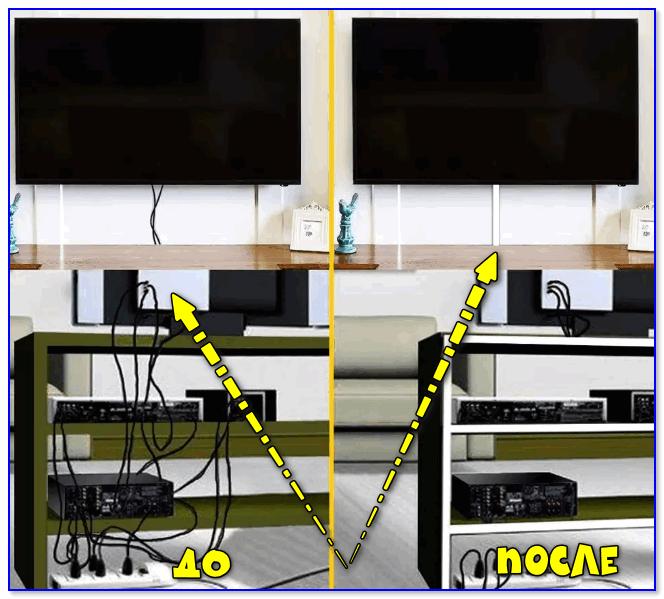 До - после (настенный кабельный канал)