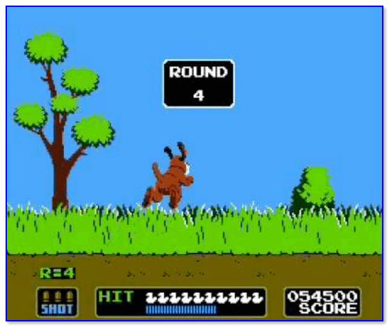 Игра на денди Duck Hunt (утиная охота)