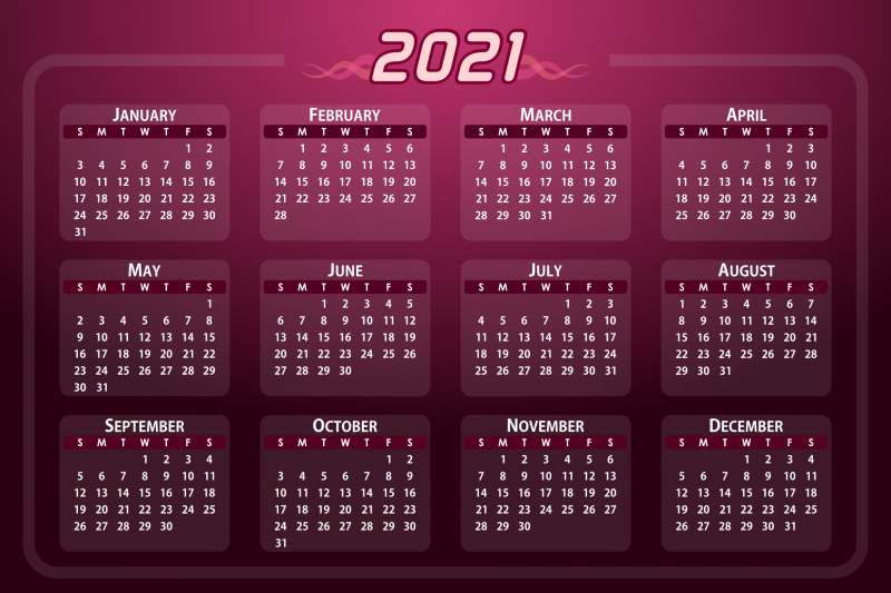 Календарик прямо на рабочий стол в форме обоев