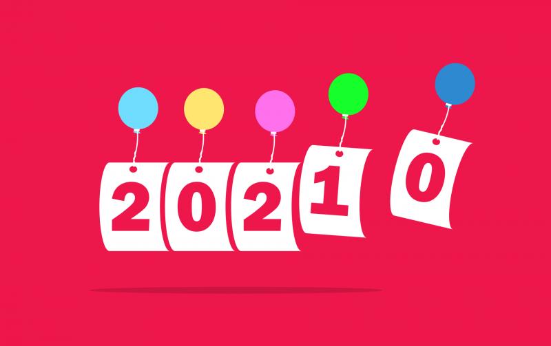 Воздушные шарики и 2021